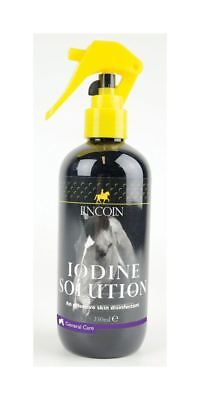 Lincoln Iodine Solution Spray for Horses & Ponies - Skin Disinfectant 250ml 4010