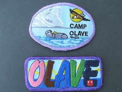 Girl Guides Canada Camp Olave (2) Embroidered Patches Scouts Brownies