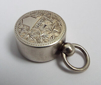 Superb Rare English Antique 1904 Solid Sterling Silver Chatelaine Sovereign Case