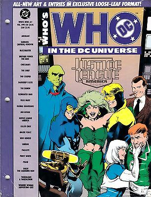 WHO'S WHO IN THE DC UNIVERSE # 7 (Feb. 1991) Justice League of America Edition