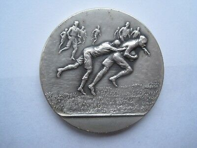SOLID SILVER ARMY RUGBY CUP MEDAL 1954-1955.GOOD WEIGHT 56.9g