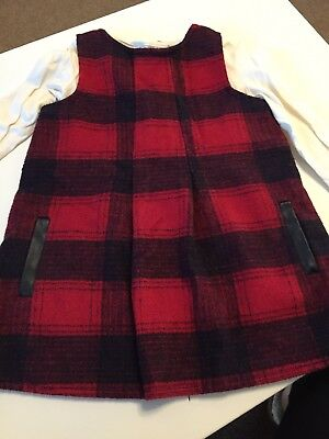 Baby Girls F&F Tartan Dress With Tshirt Age 12-18 Months- EXCELLENT CONDITION