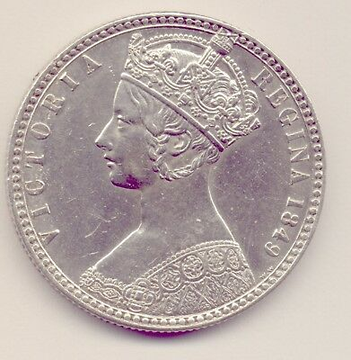 Uk: 1840 Silver  Gothic Florin - Great Condition  No  Reserve