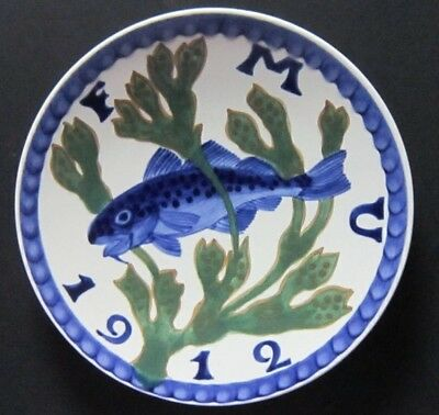 ROYAL COPENHAGEN, ALUMINIA FAIENCE F.M.U 1912 Fishing and Motor Exhibition