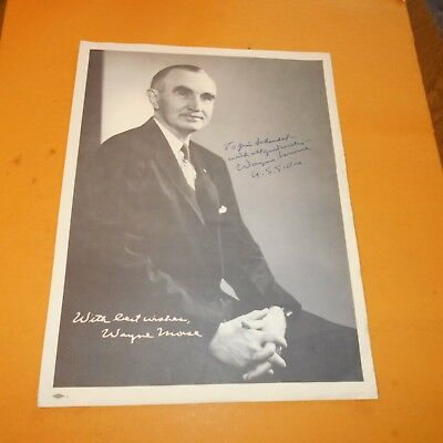 Wayne Morse was an American politician and attorney of Oregon Hand Signed Photo