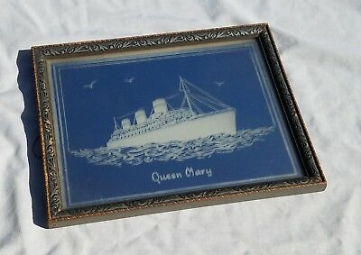 Cunard - Queen Mary - Etched Mirror - November 1936