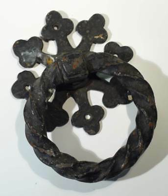 Large Antique Wrought Iron Arts & Crafts Door Handle.