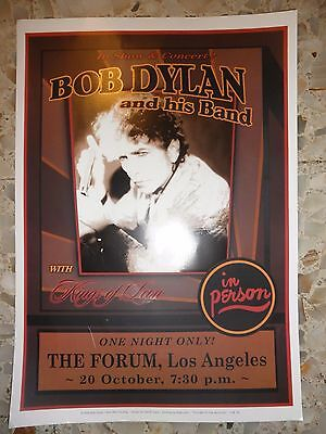 BOB DYLAN & his Band at the Forum los angeles  CONCERT POSTER  2006
