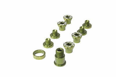 KCNC SPB009 Road Bike Crank Chainring Bolts Nuts for Campagnolo Campy Green