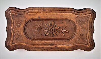 Stamp box antique very beautiful relief wood carved