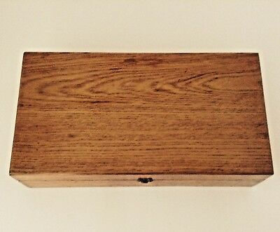 "Vintage Oak Multi-Purpose Hinged Box Dovetail Corners 12-1/4"", 6-1/2"", 3"""