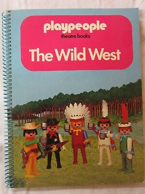 Rare Playmobil Book Playpeople Theatre Books  The Wild West Unused