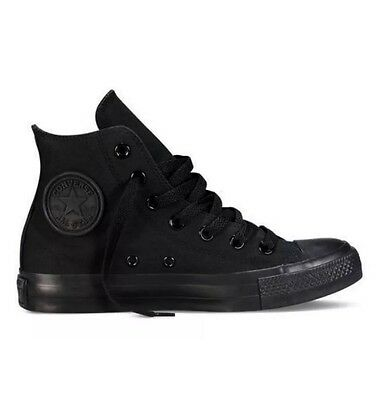 Converse Hi Top All Stars Chuck Taylor Black Mono Unisex  for Men's & Women's