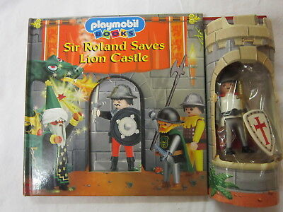 Playmobil Knight Board Book  Figure And Accessories Sir Ronald Saves Lion Castle