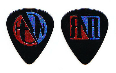 Hanson Black Guitar Pick - 2015 Roots & Rock 'N' Roll Tour