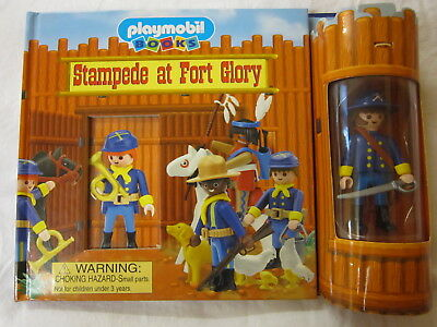 Playmobil Board Book American Calvary Figure And Accessories Stampede At Fort