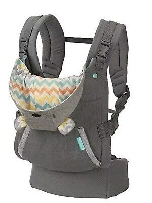 Infantino Cuddle Up Ergonomic Hoodie Baby Carrier, Grey ~ 12-40 lbs, New, Sealed