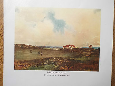 Golf Course Print  PORTMARNOCK IRELAND Facsimile Of Original 1910 Painting