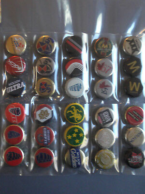 30 Different Canadian Beer Bottle caps Molson Coors O'Keefe Laurentide Black #2