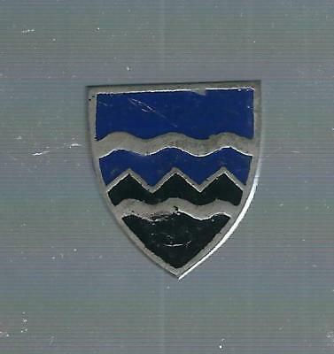 397Th  Infantry Asmic # 397 A 1   No Hall Mark German Made Painted Pin Back Di