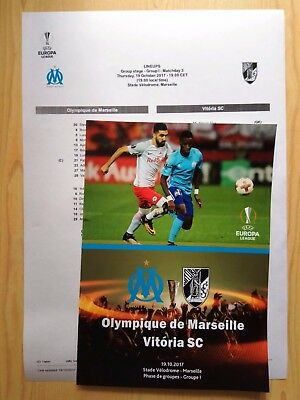 OLYMPIQUE MARSEILLE France VITORIA Portugal 2017 EL FAN + OFFICIAL Linesup