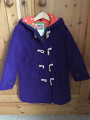 Mini Boden 7-8yrs Duffle Coat Jacket Wool New