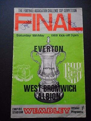 Fa Cup Final 1968 Programme -Signed By Astle, Royle And Ball