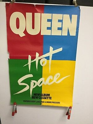 "Queen ""hot space"".  promo poster"