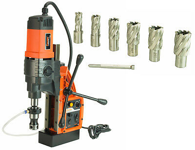 """Cayken KCY-48-2WDO 1.8"""" Magnetic Drill Press with 7PC 1"""" Annular Cutter Kit"""