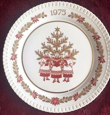Spode Christmas Plate 1975 Boxed