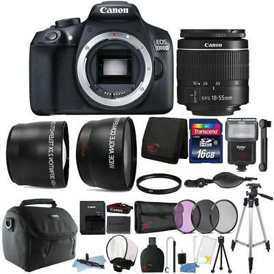 Canon EOS 1300D / T6 DSLR Camera with 18-55mm Lens and Accessory Bundle