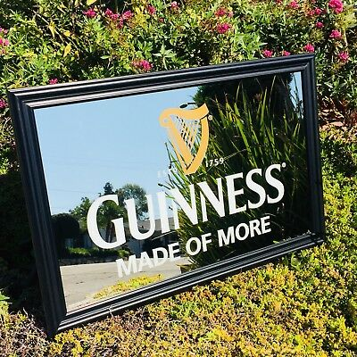 """Guinness Made Of More Dublin Beer Bar  Mirror """"New"""" Man Cave"""