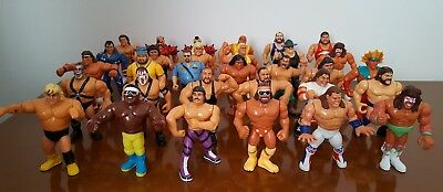 WWF HASBRO LOT 31 rare figures wrestling