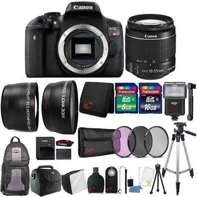 Canon EOS Rebel T6 18MP DSLR Camera with 18-55mm Lens and Accessory Bundle