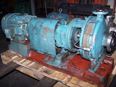 Goulds 1X2-10 Stainless Steel Centrifugal Pump 7.5 Hp 50 Gpm 460 Vac 316Ss 3196