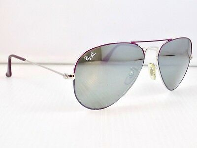 Ray Ban Small Aviator Flash Lens RB3025 55mm & Case