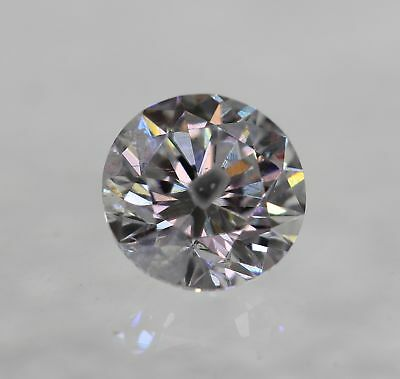 Certified 0.40 Carat D Color Round Brilliant Enhanced Natural Diamond 4.7mm 3VG