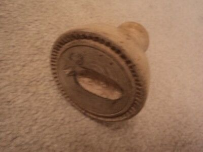 Nineteenth Century, Sycamore, Treen Butter/shortbread Stamp/ Mould, Kitchenalia.