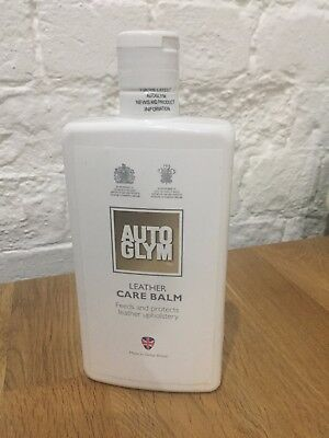 AutoGlym Care Care Cleaning Leather Balm Conditioner 80% full Valet AUTO GLYM