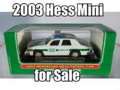 2003 Hess Mini Patrol Car  Mint in Mint Box Miniature Truck