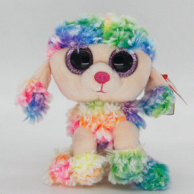 "6"" Ty Beanie Boos Rainbow Stuffed Plush Toy Soft Animals Toys Boys&Girls Dolls"