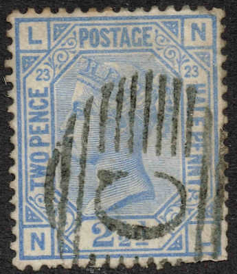 SG 157 2½d blue Z83 used in Constantinople. Very fine used and scarce pl 23.