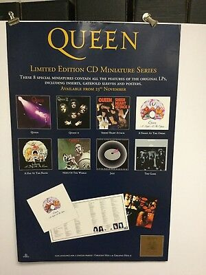 Queen .. 9 lp covers.....parlophone records promo poster