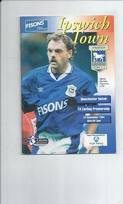 Ipswich Town v Manchester United Football Programme 1994/95