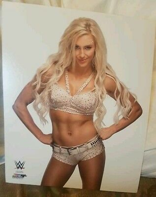 """WWE PHOTO CHARLOTTE FLAIR NEW OFFICIAL STUDIO WRESTLING 8x10"""" PROMO NXT"""