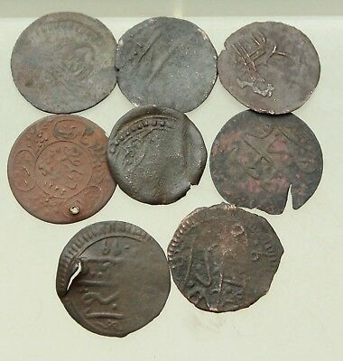 L6 Lot  8x  AE Coins Ottoman Islamic Empire D=20 mm 9g