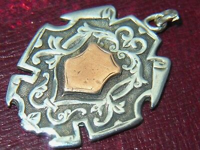 Lovely 1898 Solid Silver Watch Fob - Birmingham William Hair Haseler - Rd 323608