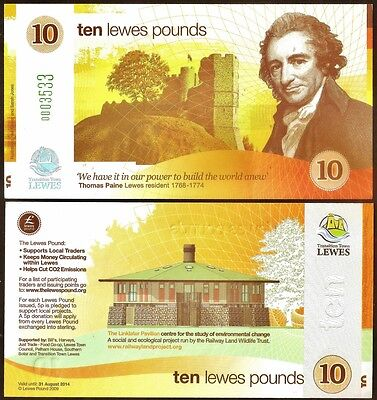 England / Lewes :  1st. Series £10 Banknote - All Local UK Banknotes Stocked.