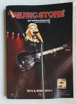 """Madonna - Metallica - Paradise Lost """"music Store Professional"""" Cathalogue 2014"""