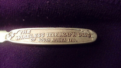 antique wireless telegraph co of south africa ltd via beam letter opener marconi